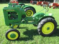 "Early 1940's John Deere Mod. L, WF, 7.50X22"" tires, belt pulley, new paint, fenders, crank start, #NA"