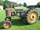 "1958 John Deere Mod. 620 LP Gas, WF, factory 3pt. w/top link, 14.9X38"" tires, Square front axle, power steering, wheel weights, clam fenders, #6218280"