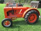 "1938 Allis Chalmers Mod. WF, unstyled, WF, 12.4X34"" tires, round fenders, NEW paint, block has been patched#433"