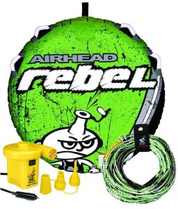 (314) WaterTube Kit. Airhead Rebel Tube kit includes 1 Person Tube, pump and pull rope
