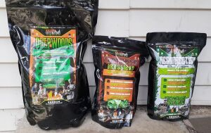 (330) Food Plot Seeds. 3 bags of KFP Favorites. These are the top 3 blends from Killer Food Plots- DeepWoods (plants 1/2 acre), Carnage Brassics (plants 1/2-3/4 acre) and Resurrection Clove (plants 1/2 acre)