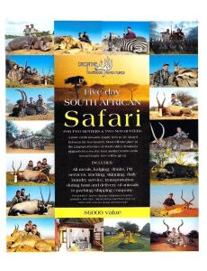 (309) Drop Tine Outfitters. Ma Twe Twe African Hunting Trip for 2 or 4 Hunters. This is a five (5) day South Africa safari for 2 (2) hunters, could be doubled for 4 (4) Hunters. This 2x1 hunt includes a $1000 credit toward trophy fees per hunter, not to b