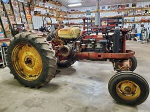 "1955 Co-Op Mod. 40-D, Black Hawk Golden Eagle, diesel, WF, power lift, 15.5X38"" tires, belt pulley, 45HP, #31794 (This tractor is partially restored and does run)"